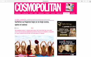 Cosmopolitan, Salti Hearts, Bali, Surf, Yoga, Retreat, Press